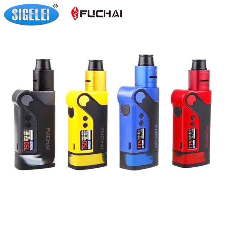D'origine Sigelei Fuchai Vcigo K2 Starter Kits TC 175 W Boîte Mod avec 0.96 pouce TFT couleur écran RDA Réservoir Kit