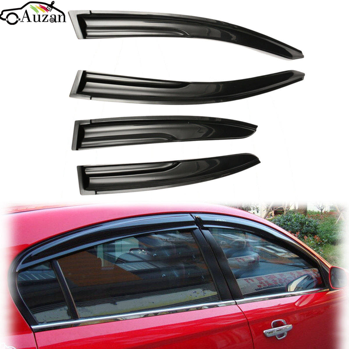 4pcs window visor shade vent rain deflector cover for honda civic 2012 2014