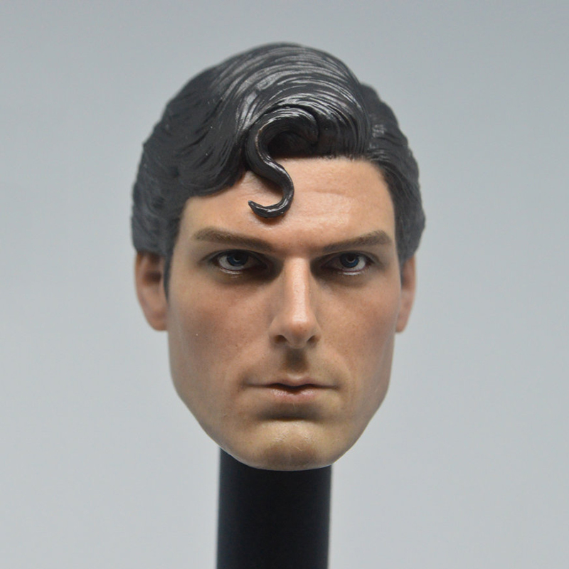 Classic Superman Head Carved 1:6 Scale Christopher Reeve Sculpt Action Figure