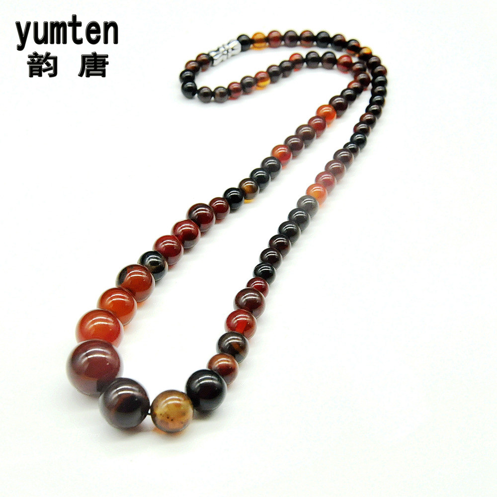 Model Onyx Halsband Natural Agate Achat Halskette Frauen Turm Kette