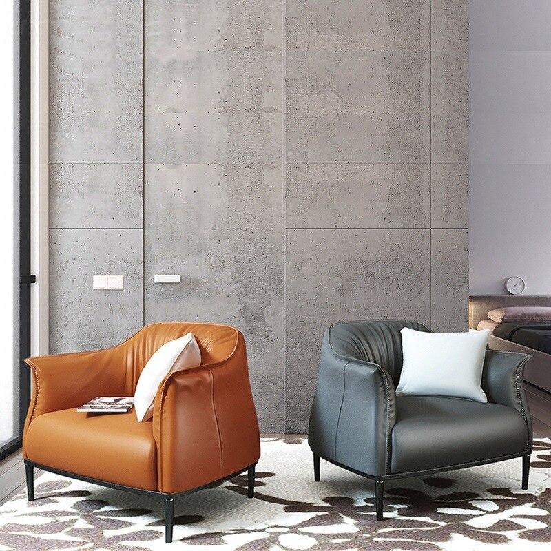 Galleria fotografica Semplice e moderno monoposto divano creativo per il tempo libero sedia camera da letto luce studio di lusso poltrona letto singola