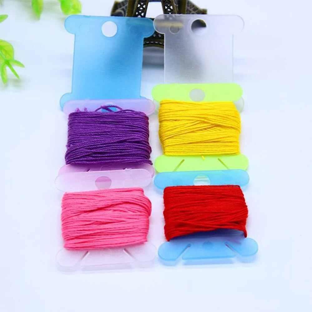 100/120PC 刺繍フロスクラフト糸ボビンクロスステッチ収納ホルダープラスチックミシン糸ボードカードクラフトキット