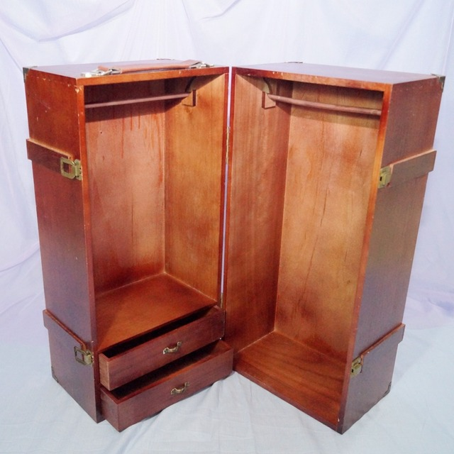 BJD Mini Furniture Wood Wardrobe Clothing Shows Box For 1/3 24 3