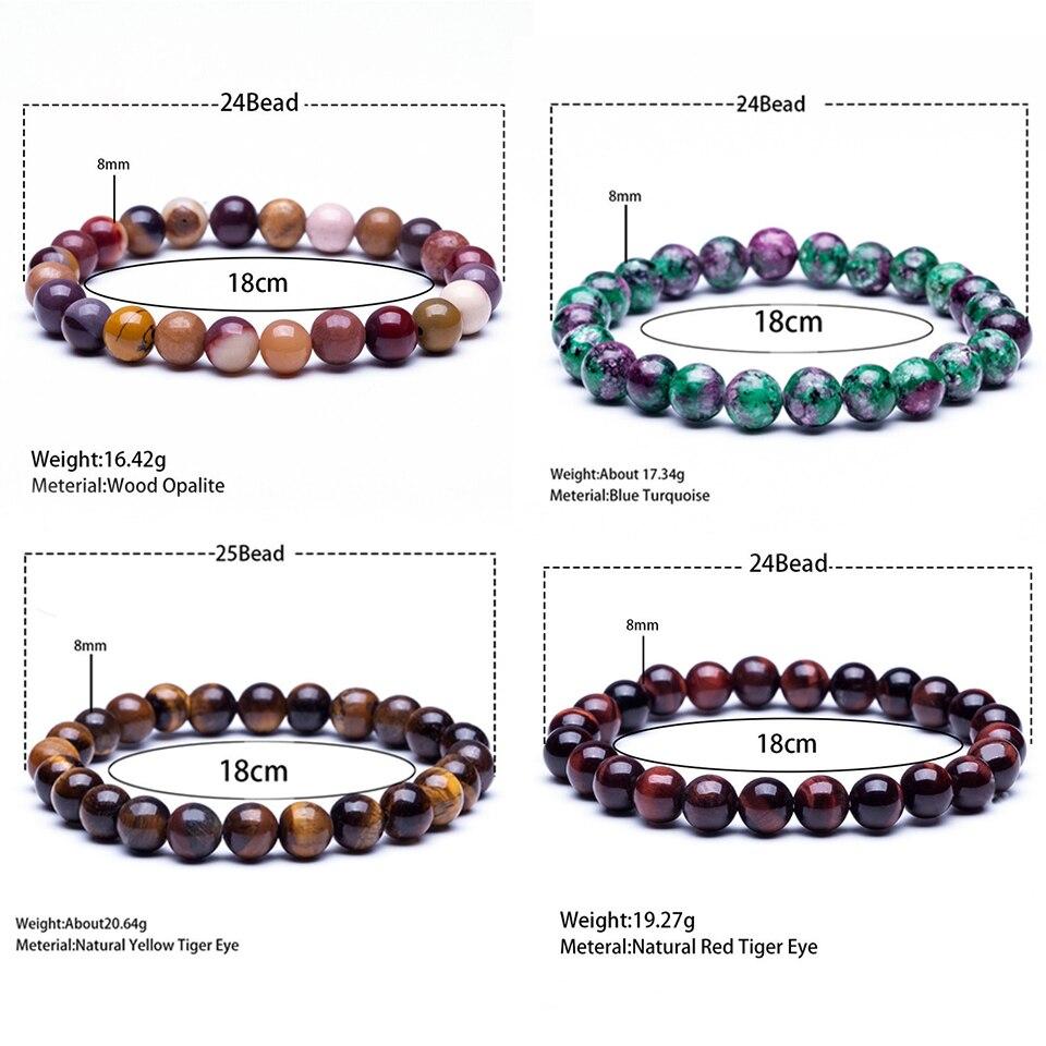 Tourmaline Lava Opal Tiger Eye Stone Beaded Bracelet