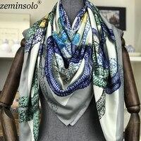 2018 бандана Foulard хиджаб подарки для оптовой продажи 130x130 см Модный Шелковый шарф для женщин роскошный бренд с принтом головы квадратный плато...