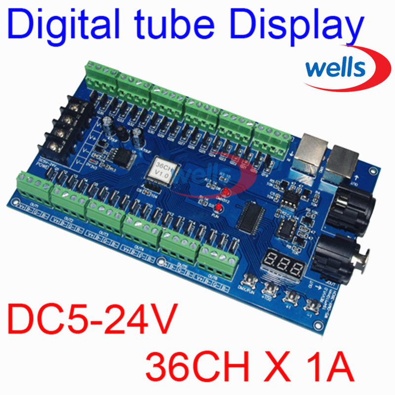 ФОТО Easy 36CH RGB dmx512 Controller, decoder,36 CH 12groups RGB output,DC5V-24V for LED strip