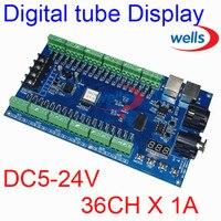 Einfach 36CH RGB dmx512 Controller  decoder 36 CH 12 gruppen RGB ausgang  DC5V-24V für LED streifen