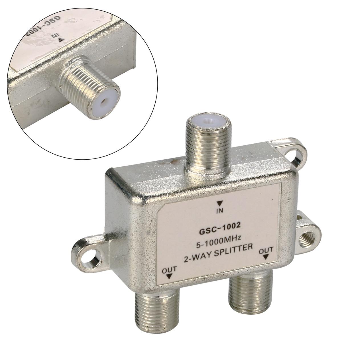 2 Way 5 1000 MHz Signal Koaxial F Stecker Splitter Kabel TV Schalter ...
