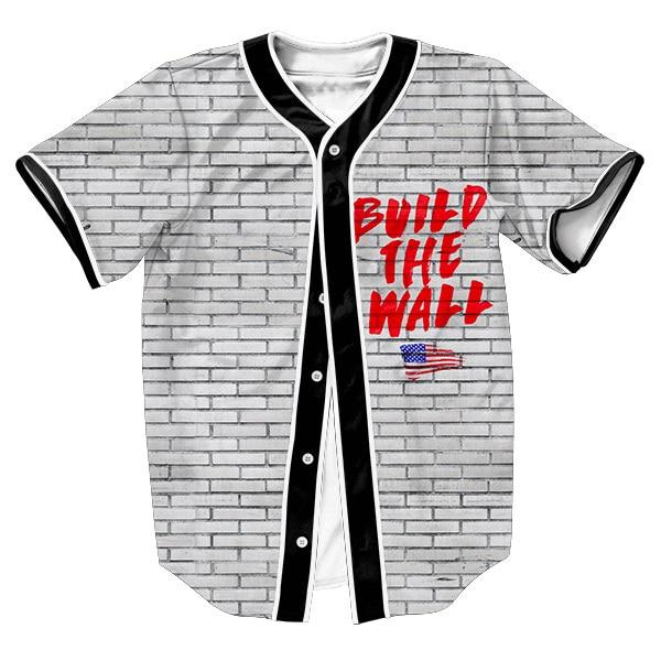 Ropa de los hombres sobrecamisa de Construir el Muro Jersey 3d camisetas STREETWEAR PUNKY con ESTILO Solo Pecho camisa de VERANO