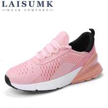 LAISUMK Women Walking Shoes New Air Spring Breathable Couple Footwear Pink Fashion Light Weight Outdoor Sneakers
