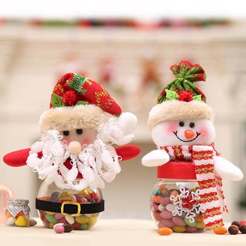 Christmas Decorations Candy Jars Container Cute Santa Claus Elk Snowman Christmas Ornament