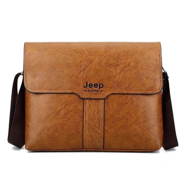 f99a695808 New Fashion JEEP BULUO Men Spans Bag Male Single Shoulder Bag Soft Face  Burglar Zipper Bag