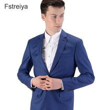 Tailor-made mens worsted wool Suits with pants customized slim fit suits for wedding 2019 groom coat clothes tailor jacket