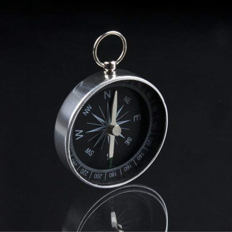 Pocket Camping Travel Mini Compass Hiking Navigation Aluminum  Compass High Precision Anti-interference Compass