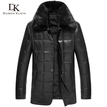 2016 Dusen Klein new men leather down Jacket genuine sheepskin large mink jacket Designer down coats men 61Z17005