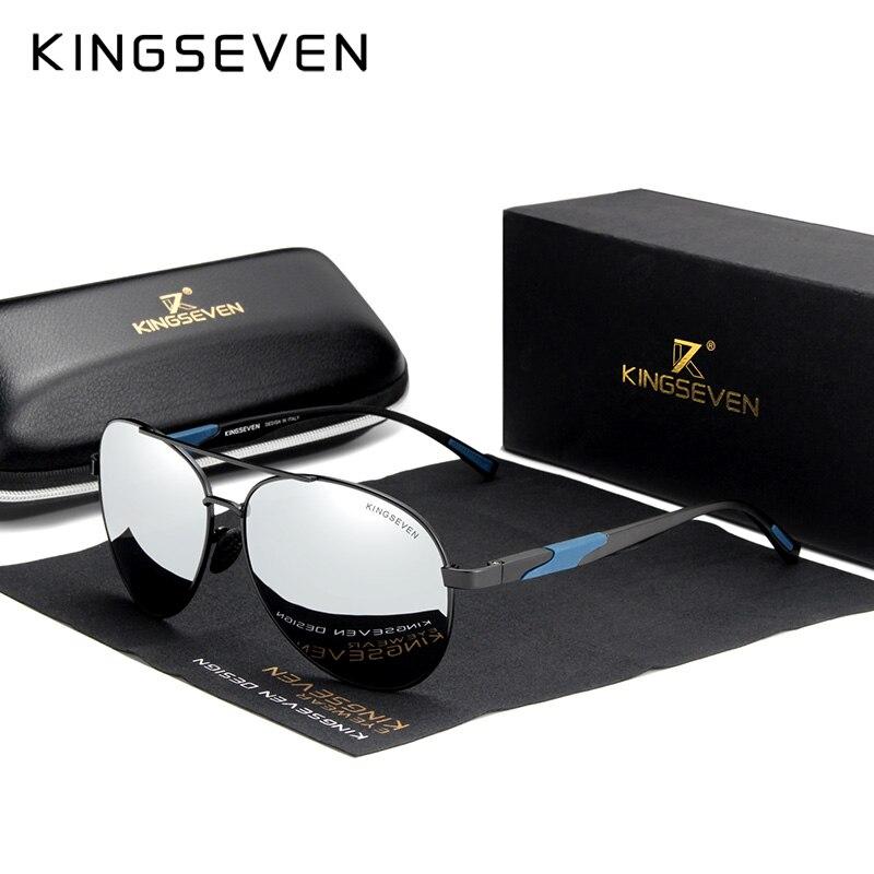 KINGSEVEN diseño De marca De Gafas De Sol polarizadas lente Alta Definición De conducción espejo Gafas De Sol