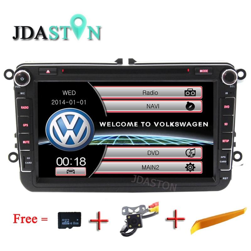 JDASTON 8 2 Din Car Multimedia Radio GPS DVD Player for Volkswagen VW Passat B6 CC