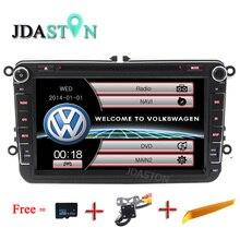 JDASTON 8″ 2 Din Car Multimedia Radio GPS DVD Player for Volkswagen VW Passat B6 CC b7 Polo MK4 MK5 Golf 4 5 Tiguan Jetta BORA