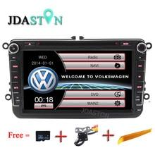"""JDASTON 8 """"2 Din Araç Multimedya Radyo GPS DVD Oynatıcı Volkswagen VW Passat için B6 CC b7 Polo MK4 MK5 Golf 4 5 Tiguan Jetta BORA"""