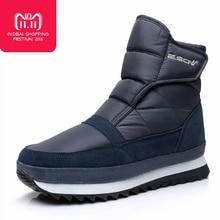 High quality Men boots 2018 winter shoes men ankle boots Waterproof Non-slip warm fur flat men snow boots big size 39-45