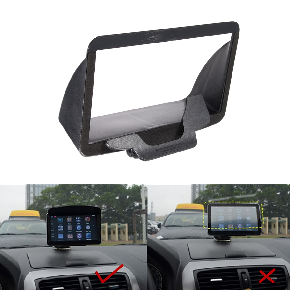 US $2 73 19% OFF|ANENG New High Quality Sun Shade Visor Screen For TomTom  Go 60 Go 600 Go 6000 Sat Nav GPS 4 3 / 5 INCH Accessories-in Cables,