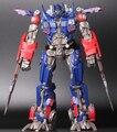 Robô de montagem final Optimus Prime ação pvc figura modelo de altura 30 cm na caixa
