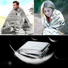 210*130CM Emergency Blanket Survival Rescue Insulation Curtain for Camping Outdoor Reflective Shelter