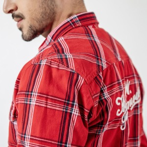 Image 4 - SIMWOOD New 2020 Autumn Casual Plaid Shirts Men High Quality Letter Embroidered Shirt Male High Quality Brand Clothing 190205