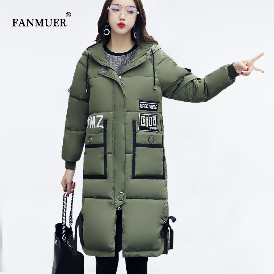 Fanmuer 2017 winter jackets women coat woman long hooded thick ...