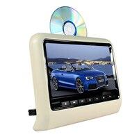 9 inch TFT LED Screen Headrest monitor Car DVD Player & Game DVD USB SD IR Transmitter Portable Headrest Monitor SH9808DVD Gray