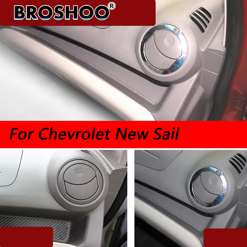 BROSHOO Car Styling For Chevrolet New Sail Decorative 3D Stickers Air Outlet Conditioning Cover Frame Car Accessories 2Pcs/Set