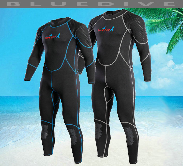 Blue dive 2mm one piece long-sleeve submersible service aureateness professional snorkeling clothing thermal