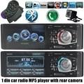 MP4 MP5 player de Áudio do carro Do Bluetooth estéreo rádio USB TF FM volante de controle remoto com câmera traseira 1 din 4.1 polegada AUX