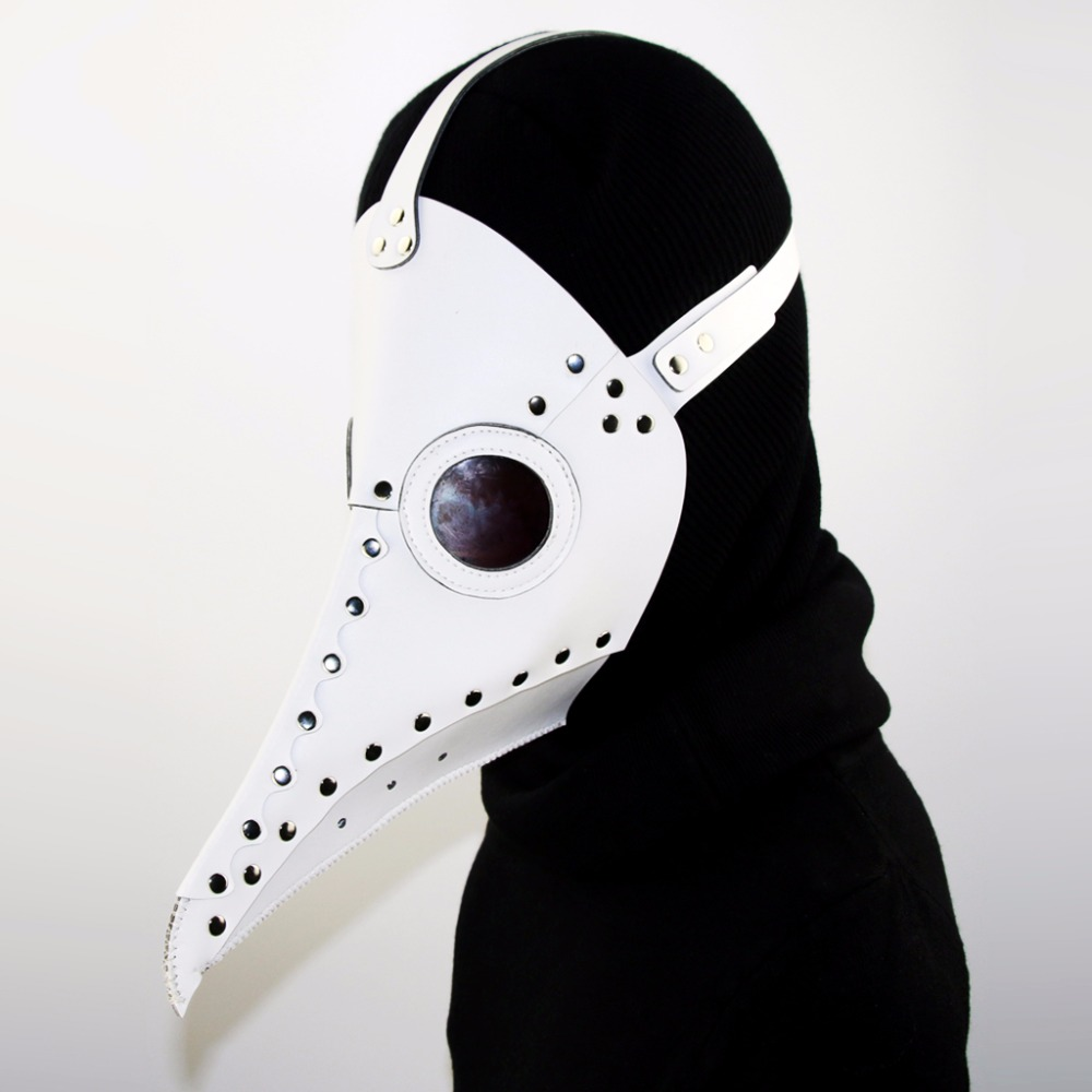 New Arrival Dr. Beulenpest Steampunk Plague Doctor Mask PU Leather Birds Beak Masks Halloween Cosplay Carnaval Costume Props