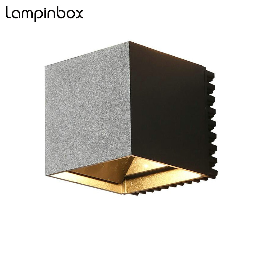 Modern Wall Lamp LED Outdoor Waterproof IP65 Wall Lamp Home Lighting Garden Light LED AC85-265V Wall Sconce 18W LP18 new 120degree waterproof cube cob led light wall lamp modern home lighting decoration outdoor wall lamp aluminum 6w ac85 265v
