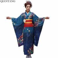 7bc16142e Hot Sale Fashion Women Kimono Yukata Haori With Obi Japanese Style Evening  Party Dress Asian Clothing