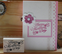 High Quality Vintage Happy Mother Day 4 6cm Carimbos Wooden Scrapbooking Rubber Stamps Carimbo For Card