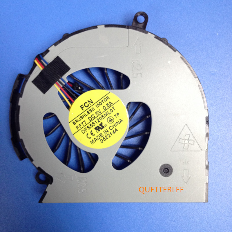 fan for HP 14 15 14-D 15-D 240 g2 250 g2 cpu cooling fan 747241-001 747242-001 747266-001 NFB75B05H-002 DFS551205ML0T FF77(China)