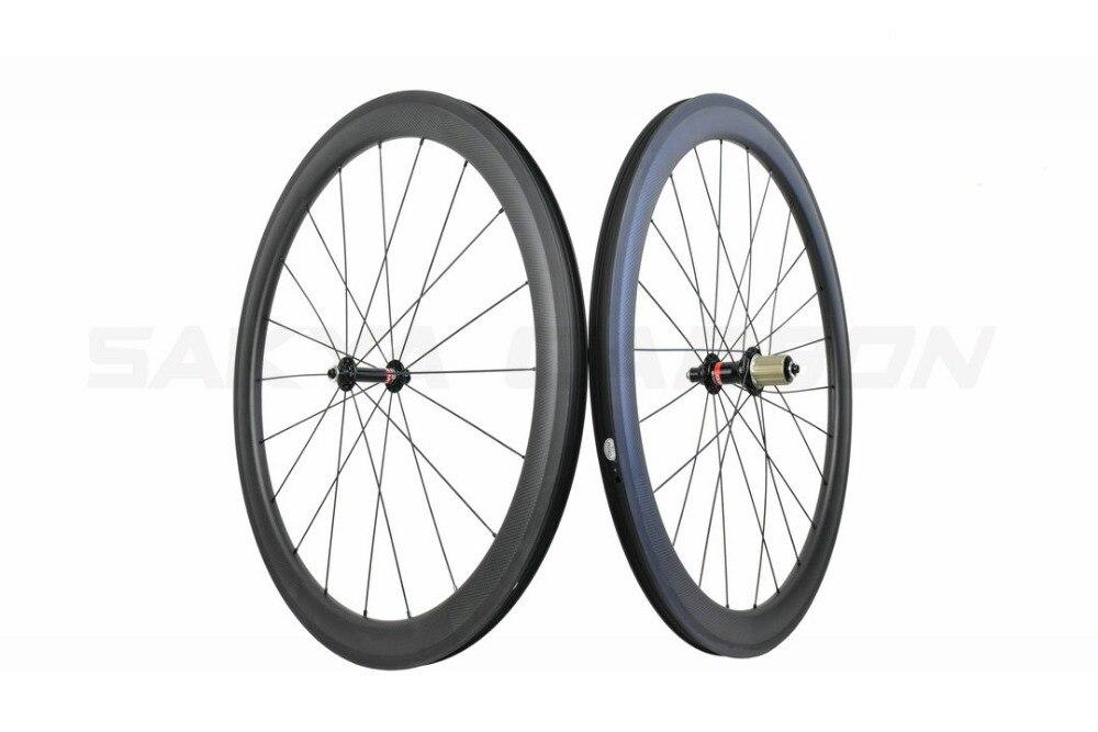 SC50TC Tubeless ホイールカスタマイズハブ 50 ミリメートルチューブレスカーボンホイール 25 ミリメートルワイド道路カーボンホイール 20/24 H 手構築バイクホイール  グループ上の スポーツ & エンターテイメント からの 自転車の車輪 の中 2