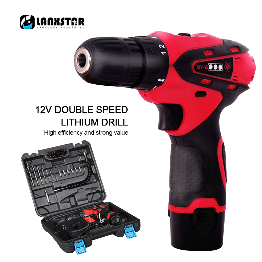 цена на Rechargeable Electric Drill 12-16.8V Cordless Electric Screwdriver Multifunctional Household Wireless Lithium Electric Drill Set