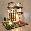 Кукольный Дом Вилла Модель Включает В Себя Мебель Diy Миниатюрный 3D Головоломки Деревянные Кукольный Домик Творческие Подарки На День Рождения Игрушки Куклы для Дома