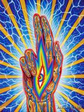 "poster 32x24"" 17x13"" Trippy Alex Grey Wall Poster Print Home Decor Wall Stickers poster Decal--064(China)"