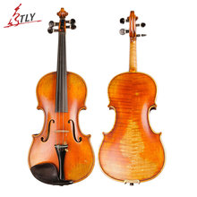 TONGLING Violin Top Europe Spruce Antique Violin Fiddle Handmade High-Grade Ebony Accessories