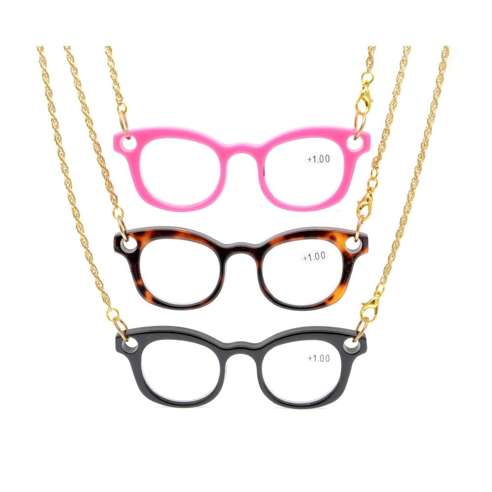 NR001 смешивания Eyekepper 3 шт Мини читатели Цепочки и ожерелья Очки для чтения для женщин + 0.50 ----- + 4.00