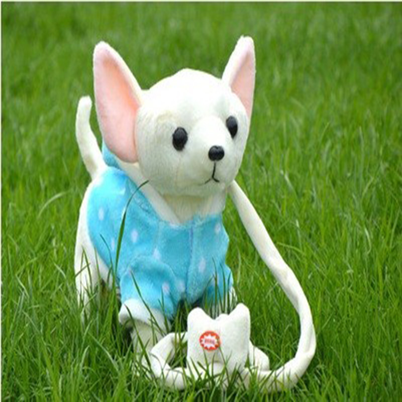 Electric leash dog Plush Toys Music machinery remote control Leash dog electronic toys For Children Christmas