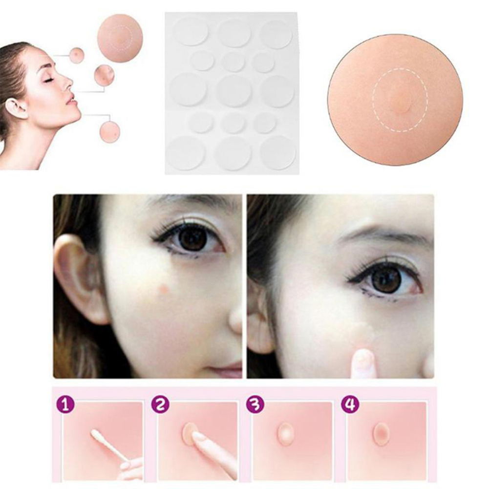 15pcs Acne Patch Skin Tags Beauty Set Remover Pimple Master Patch Treatment Facial Skin Care Blackhead Removal Freckle Acne Mask