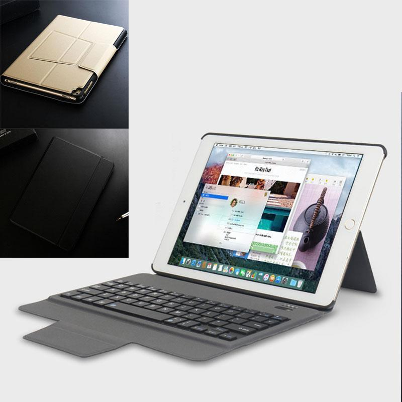 Back Stand Holder Slim Leather Cover with Bluetooth Keyboard USB Cable Charger For iPad Pro 9.7 inch