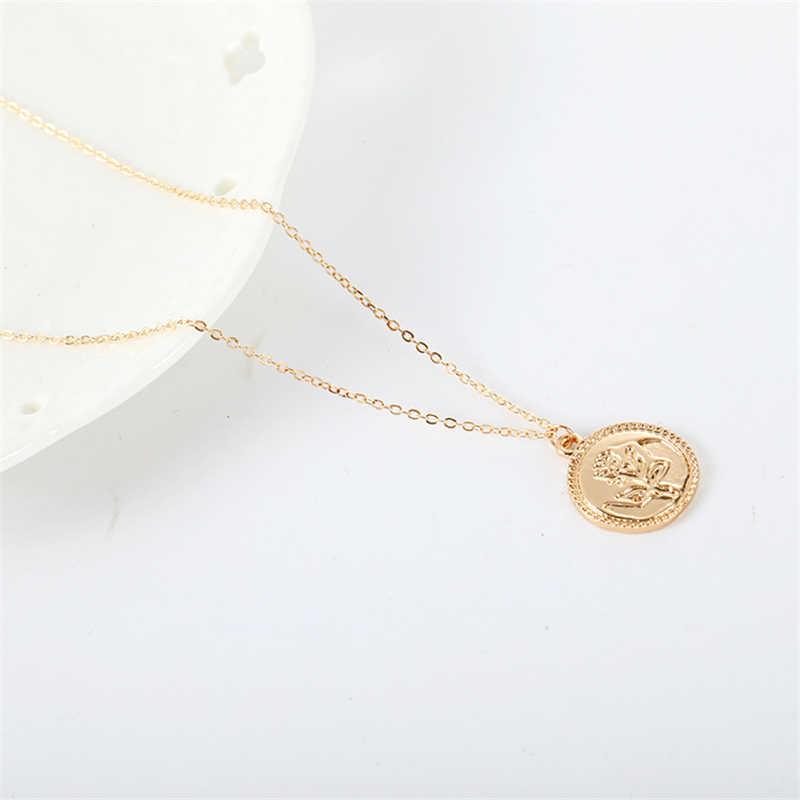 Горячая 2019 Новый прекрасное ожерелье один слой Роза узор Простой Overwatch длинное ожерелье Оптовая Продажа стимпанк ожерелье для женщин