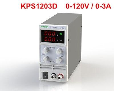 Free shipping KPS1203d/ Adjustable High precision digital LED display switch DC Power Supply  120V 1A  0.1V 0.001A free shipping kps6030d adjustable high precision digital switch dc power supply protection function 60v30a