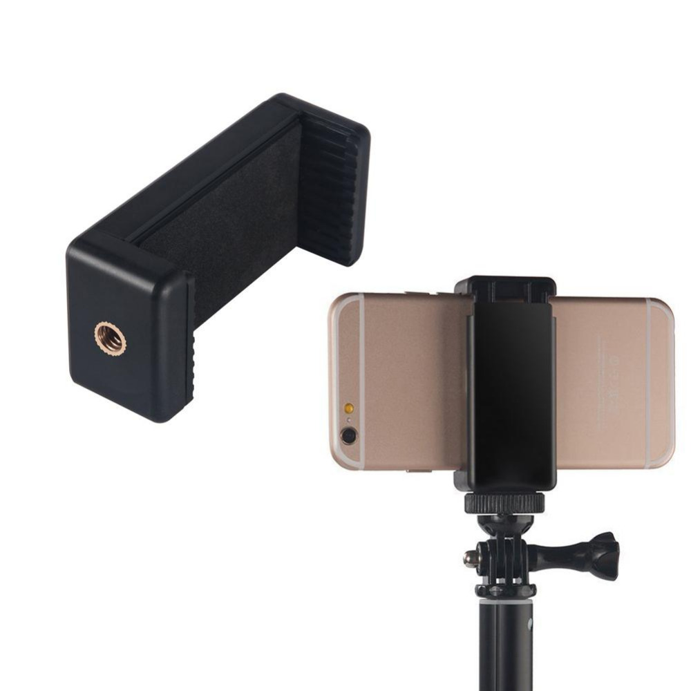 Universal  Smartphone Tripod Adapter Mobile Phone Holder Mobile Phone Selfie Stick  Clip Holder Mounting Adapter for Monopod universal tripod mount adapter telescopic cell phone stand holder